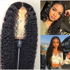 African fashion ladies long curly wigs black rolls synthetic wig as picture long