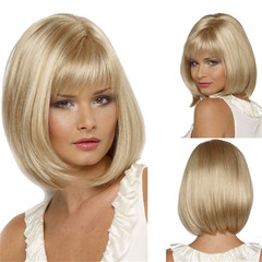 Fashion Ladies BoBo Head Hair Wig Synthetic Wigs as picture short
