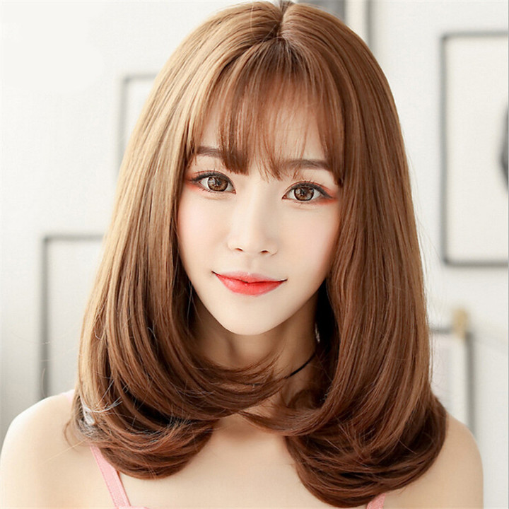 Crazy price 2019 new popular fluffy fashion girls Long wigs as picture normal