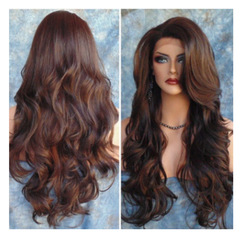 New fashion European and American wigs ladies long curly dyed hair wigs as picture long