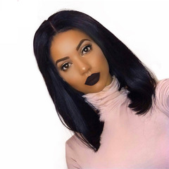 Limit promotion synthetic ladies wig long straight hair Bob haircut wigs black short