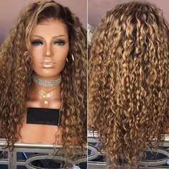 Limit Discount of 3 Days 2019 New Hot-selling Long Brown Curly Wigs as picture long