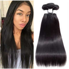 Flash Lower Price Fashion Synthetic Straight Hair Weaves One Piece as picture 16 inches