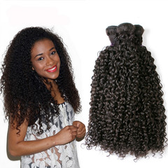 Price for one piece African new fashion high temperature silk hair weaves curly hair black 18 inches