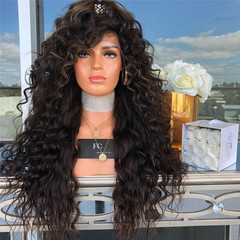 Amazing price ladies fashion long curly wig synthesis big wave wigs as picture long
