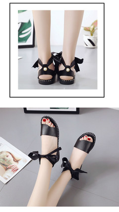 2019 summer new fashion women's sandals open toe with low heel wild sandals black 35