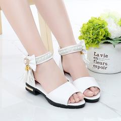 New Summer Fashion Children's Princess Sandals in 2019, Women, Children beige 35