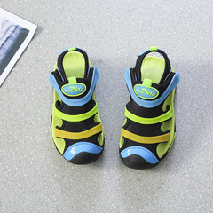 Boys'Sandals 2019 New Girls' Korean Version Summer Children's Shoes Breathable Babies and Adults green 35