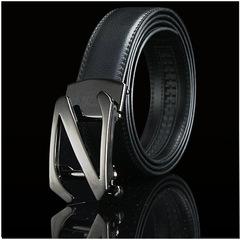 Men's Leather Belt For Men's Self-buckle Youth Korean Style Leisure Z-belt Business Belt Formal Wear 1 110cm
