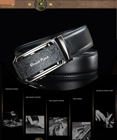 Men's Student Belt Male and Young Korean Version Automatic Buckled Cowhide Belt Leisure 1 110cm