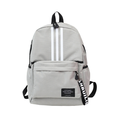 5 Colors Hot Sale Canvas Students Backpack Boys And Girls Sport Outdoor Leisure Travel Backpack light grey 42*29*13