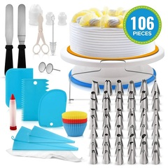 106pcs THE MOST COMPLETE Bake Decorating Supplies Kit For Housewife And Cake Maker as photo 28 * 28*9cm