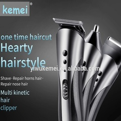 Best Quality kemei hair clipper Professional 3 in 1 SET hair clipper/hair trimmer/nose trimmer wash as photo as photo