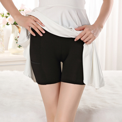 3 Style Anti-Bare Safety Pants Ladies Sexy Mid-waist Modal Security Boxer Shorts style1 black l