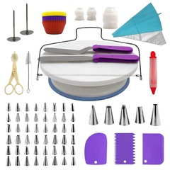 106pcs THE MOST COMPLETE Bake Decorating Supplies Kit For Housewife And Cake Maker purple 28 * 28*9cm
