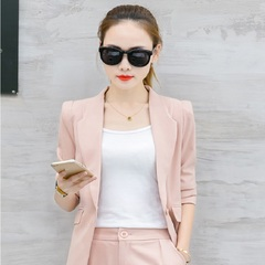 5 Colors Suit  Womens New Slim  Temperament  Fashion Two-piece Career Womens Wear pink m
