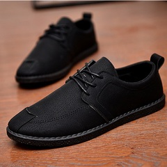 Business English mens casual shoes loafers breathable plank new fashion shoes versatile mens shoes black 39