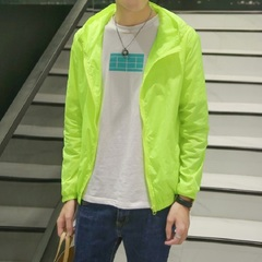 6 colors summer ultra-thin fast dry breathable uv-proof sun-protective jacket for girls and boys m light green
