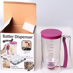 Cake Batter Dispenser with Measuring Label for Cupcakes Muffins Baking Tool Batter Funnel Tool purple one size