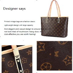 New Style Fashion Women's Hangbags Printed Single Shoulder Women's Handbags brown 34*15*27