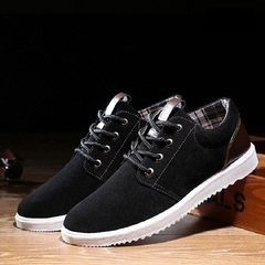 New single shoes for male students non-slip belt sports casual flat shoes fashion versatile black 39