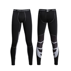 Men Sports Fitness Light Breathable Comfortable Quick Dry High-elastic Tight Ninth Length Pants gray m