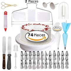 74 PCS Multifunction Bake Decorating Supplies Kit For Housewife And Cake Maker Cake DIY Tools as photo 11.8*11.8*3.94in