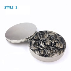 24 Pcs/Set Two Styles Stainless Steel Sanitary And Healthy Cookie Cutter Practical Baking Ware style 1 one size