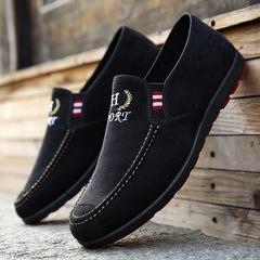 Great promotion Mens shoes casual beans business student Doudou shoes  business black 39 cloth shoes