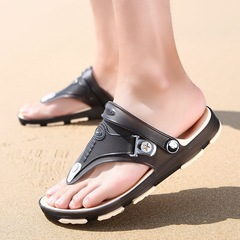 Mens Modish Soft Breathable Wear-resisting Non-slip TPU/EVA Casual Beach Sandal Indoor Slipper black 39