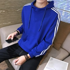 3 Colors Mens  Modish Fashionable Soft Comfortable Skin Friendly Sports Leisure Hoodies For Teenager blue m