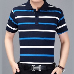 Mens More Colors Modish Business Casual Soft Comfortable Breathable Skin Friendly Cotton Polo Shirts style 1 m pure cotton