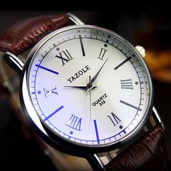New ladies 313 watch women's business quartz watch women's watch fashion watches brown belt white plate one size