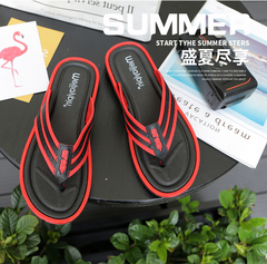 Men's Shoes Slippers Men Flip-Flops Causal Slippers Daily Wear Shoes Light Slippers red 41