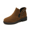 SOHI 1 Pairs Size 35-38 Matte Retro Casual Classic Ankle Boots Women's Shoes army brown 35
