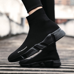 Men's Vulcanize Shoes Men Top Fashion Sneakers Lace-up High Style Solid Colors Man Shoes black 39