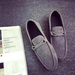 Summer Style Soft Moccasins Men Loafers High Quality Genuine Leather Shoes Men Flats  Driving Shoes gray 39 pu