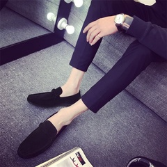 Summer Style Soft Moccasins Men Loafers High Quality Genuine Leather Shoes Men Flats  Driving Shoes black 39 pu