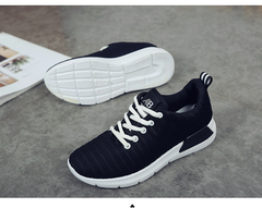 Women Shoes Summer Black Sneakers Super Light VulcanizedShoes Female Mesh Sneakers Women Casual Shoe black 36