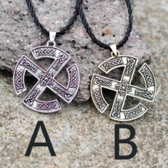Creative Nordic Viking Necklace With Men's Slavic Pendant Necklace Yellow one size