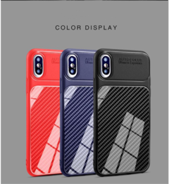 IphoneXS Carbon Fiber Mobile Phone Case i6/7/8 /XR all-clad Diving Case Plus Protective Case black iphone 7/8