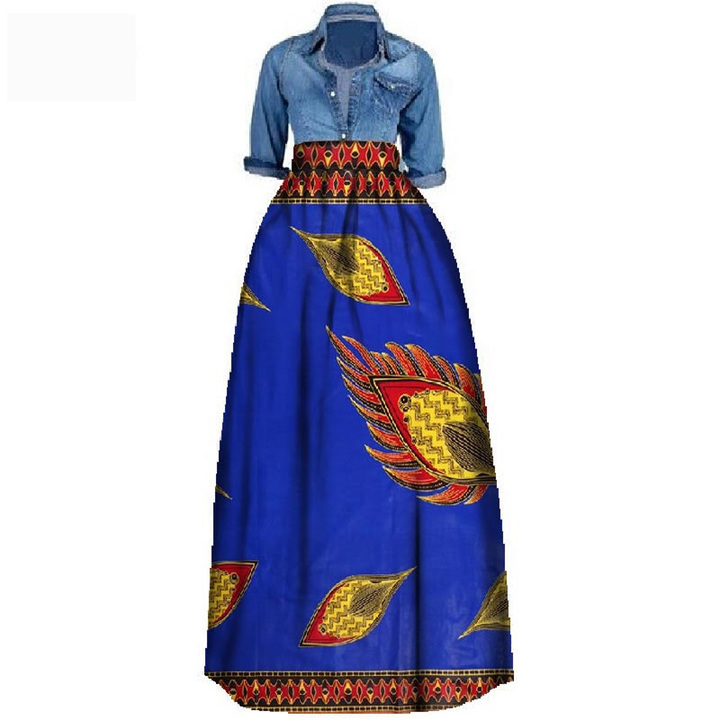 a8fd963a98 NewPrint Summer Skirt for women dress Plus Size African Traditional Clothing  Ball Gown Casual Skirts 18