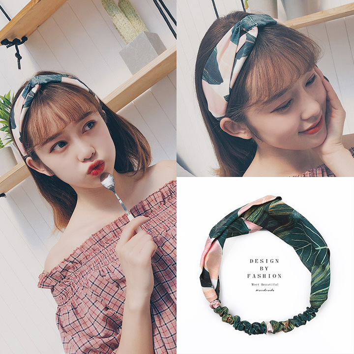 Cute hair bands accessorize with a print elastic band
