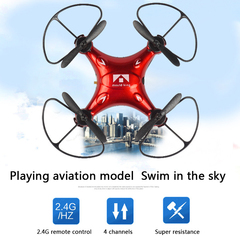 Remote Control Helicopter 2.4G Mini Drone Key Of Tumbling For children Christmas Gift Aircraft Model red one size