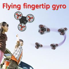 Mini flying fingertip gyro pressure relief toy Hand Flying Spinning Top Funny chrismas Gift Children black one size
