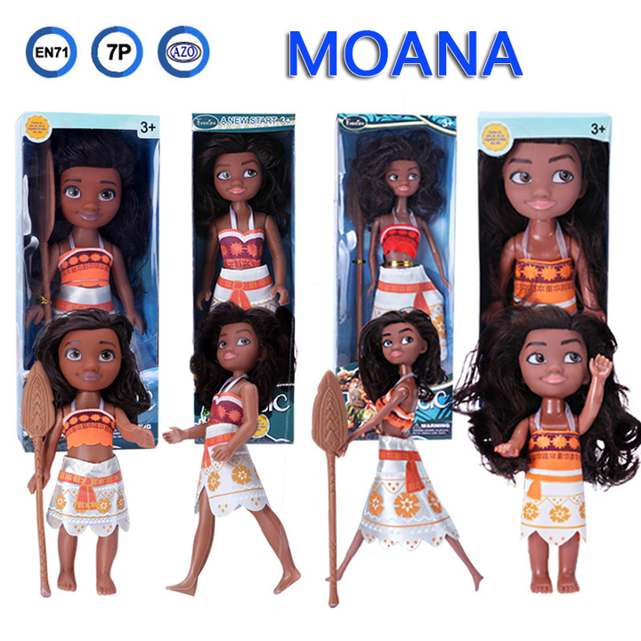 Movable Princess Moana Doll Model Toys Cartoon Marble Plastic Vinyl Dolls Christmas Gift for Girls A one size