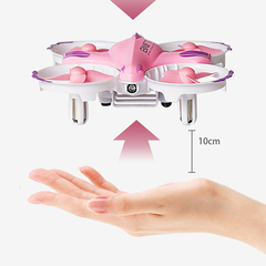 Telecontrol Remote Control Mini Resistance Children gift Intelligent Four Axis Aircraft Fixed Height gold one size