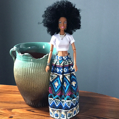 Fashion Black barbie Girl christmas present home decoration birthday gift Personality doll new year a one size