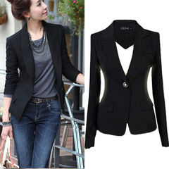 Fashion NewStyle Women One Button Formal Single Button Slim Casual Business Suit Jacket Coat Outwear black s