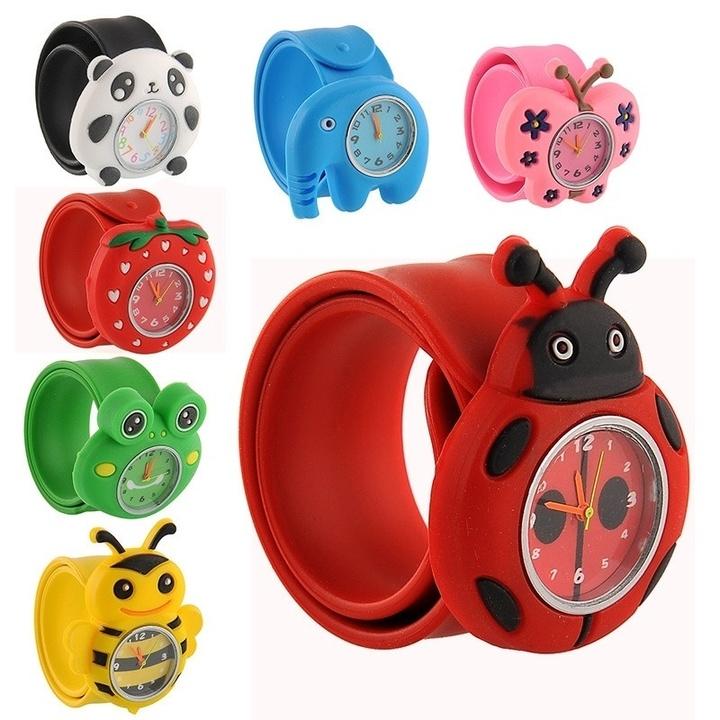 Cartoon Unisex Quartz Sports Kids Wrist Watch Unique Animal Pattern for children watch ladybug one size